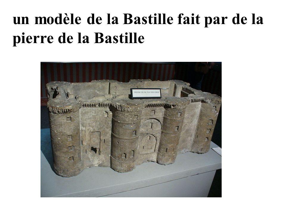 La Bastille un modèle de la Bastille fait par de la pierre de la Bastille