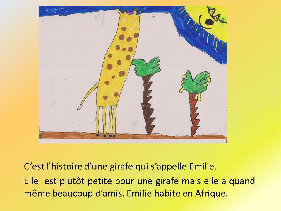 Cest lhistoire dune girafe qui sappelle Emilie.