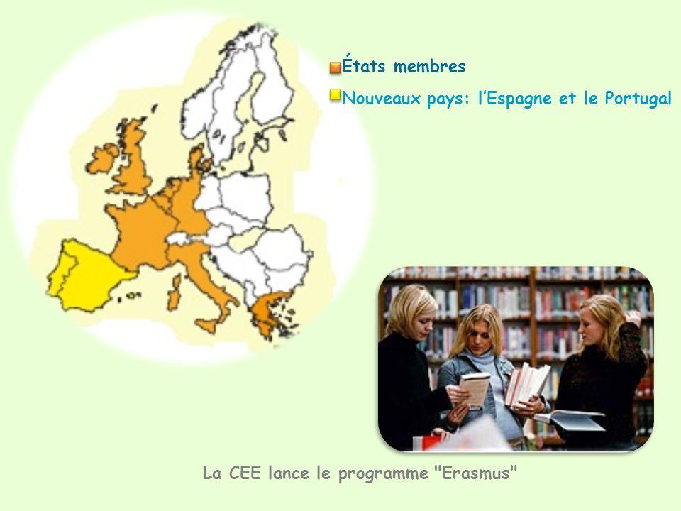 États membres Nouveaux pays: lEspagne et le Portugal La CEE lance le programme