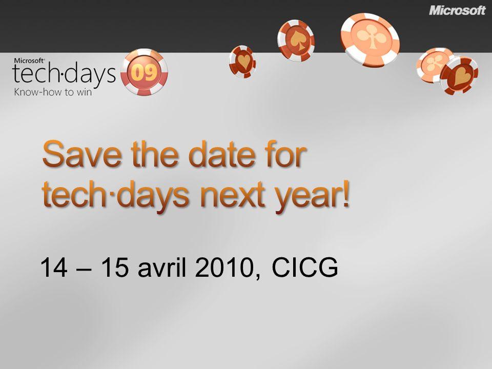 14 – 15 avril 2010, CICG