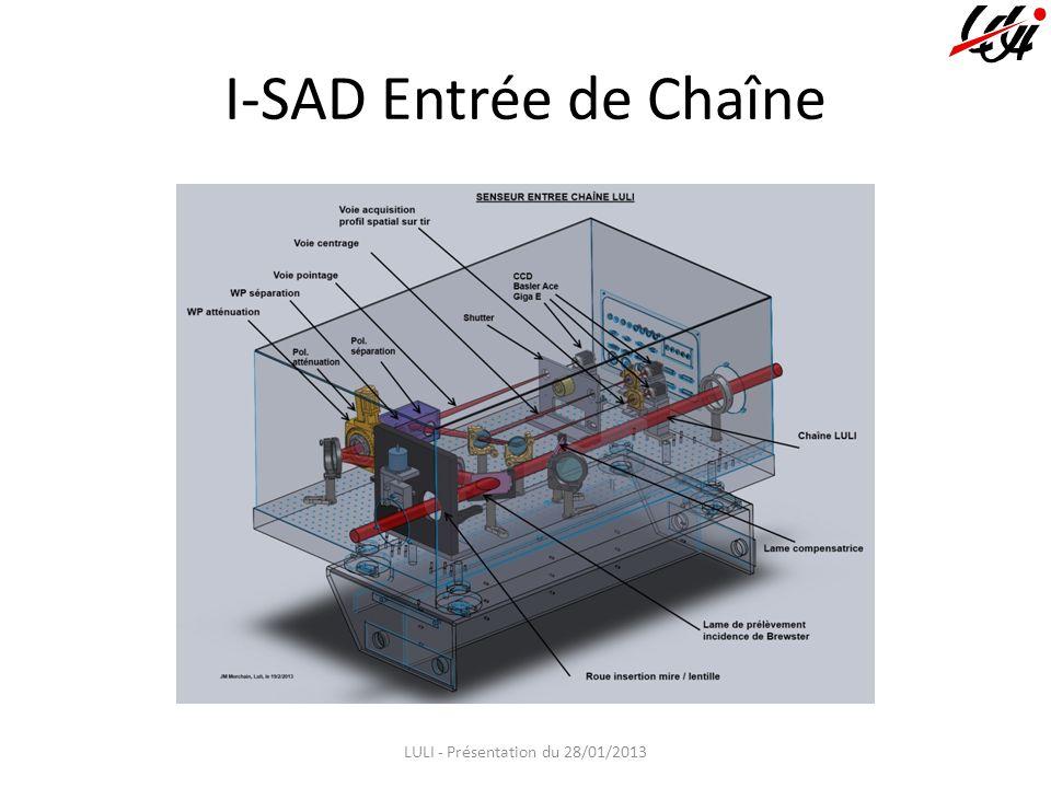 I-SAD Entrée de Chaîne LULI - Présentation du 28/01/2013