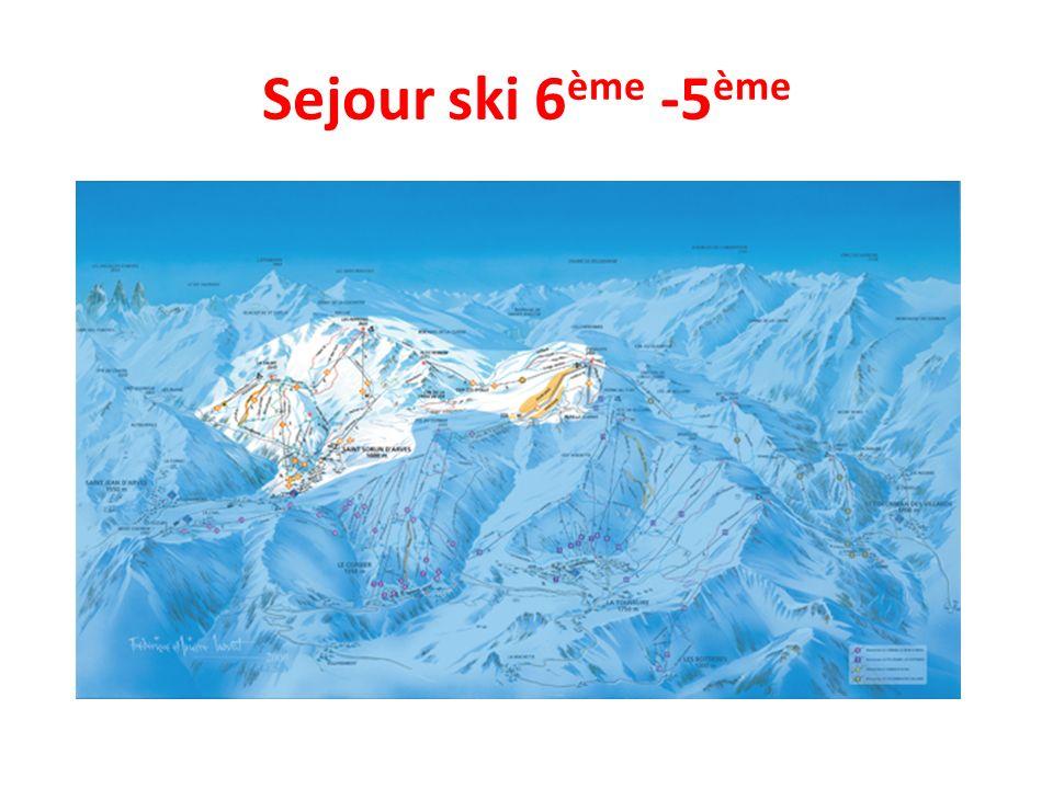 Sejour ski 6 ème -5 ème