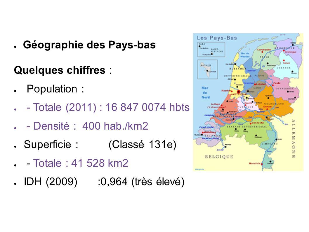 Les Pays-Bas européens en une seule image : - pays plat - trafic dense - Moulins - canaux - fleurs et polders - énergies propres Géographie des Pays-bas