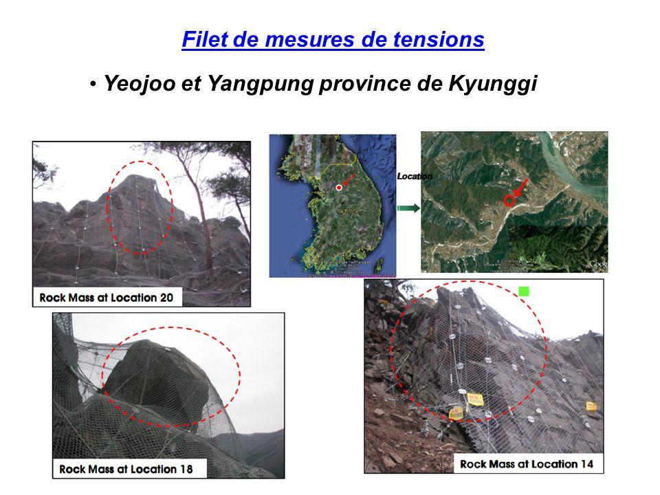 Filet de mesures de tensions Yeojoo et Yangpung province de Kyunggi