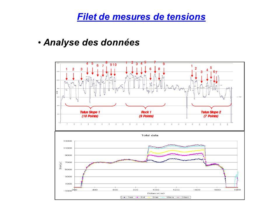 Filet de mesures de tensions Analyse des données