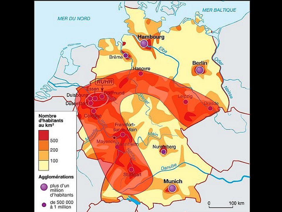 LÉGENDE : Principales agglomérations : > 1 million dhab.