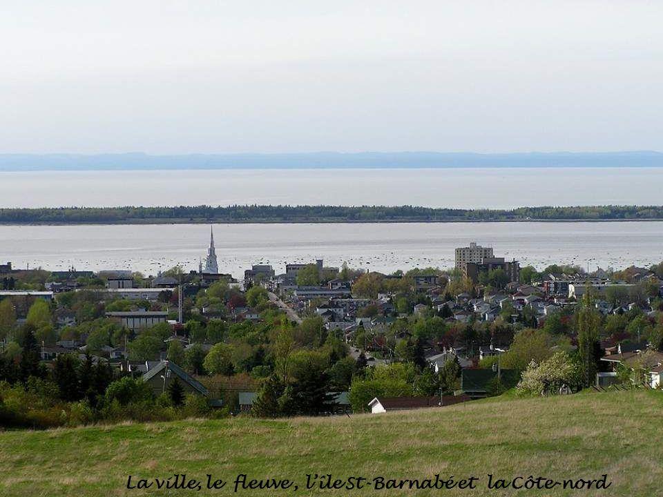La ville, le fleuve, lîle St-Barnabé et la Côte-nord