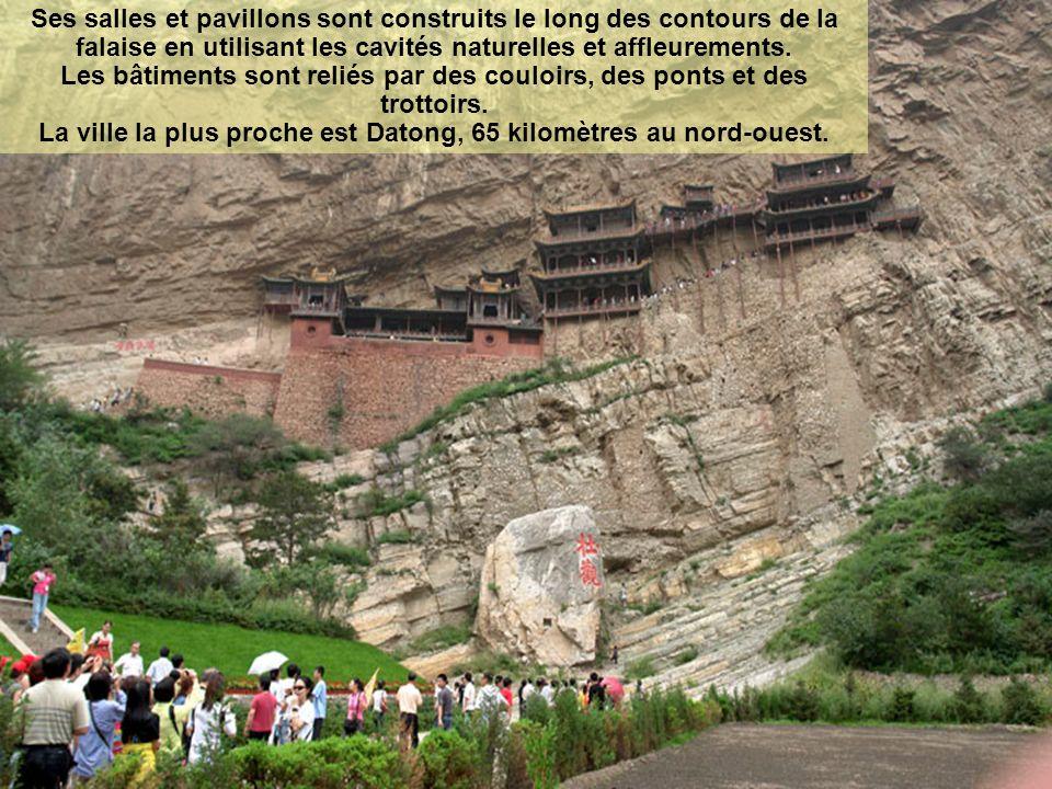 Xuan Kong Si : Le Templesuspendu est un temple construit sur une falaise au-dessus due Canyon Jinlong, près du mont Heng dans la province de Shanxi.