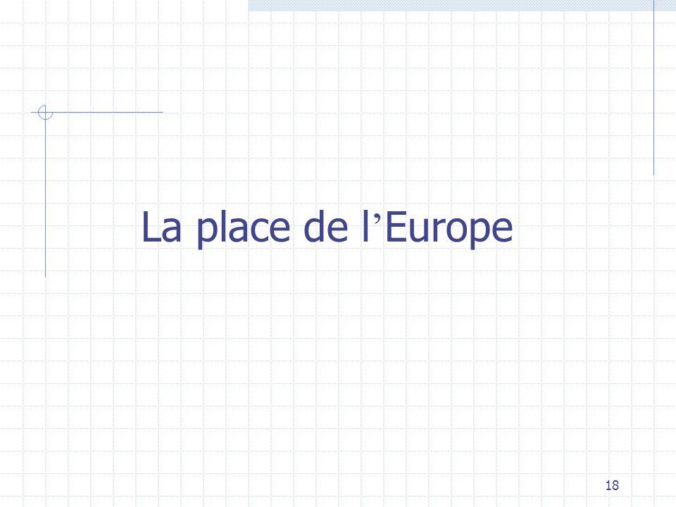 18 La place de l Europe