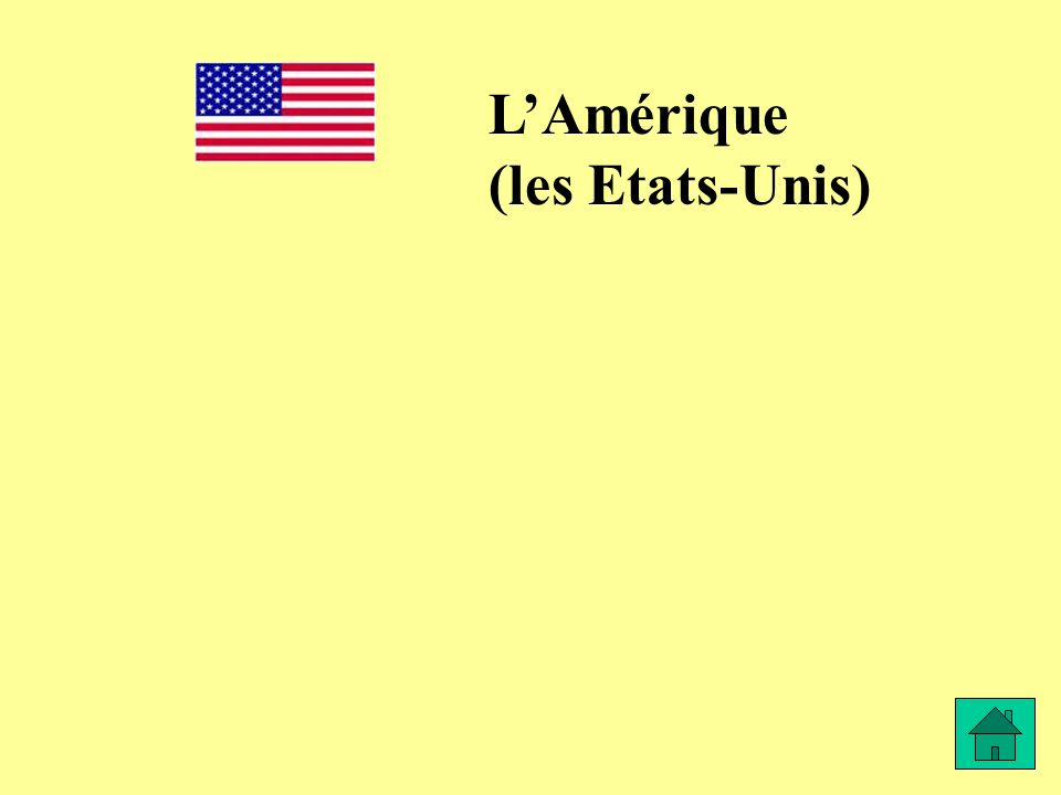 LAmérique (les Etats-Unis)