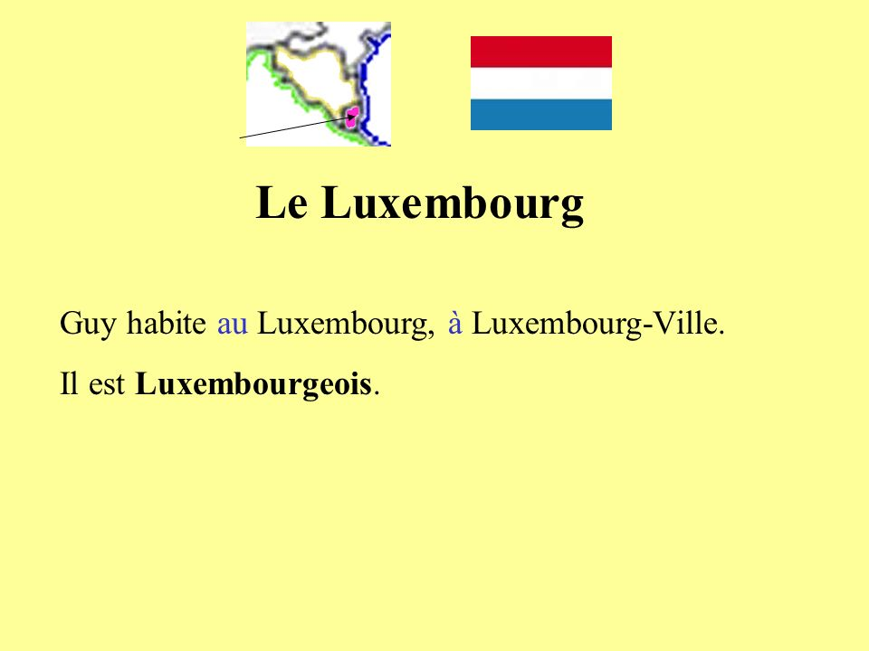 Le Luxembourg Guy habite au Luxembourg, à Luxembourg-Ville. Il est Luxembourgeois.