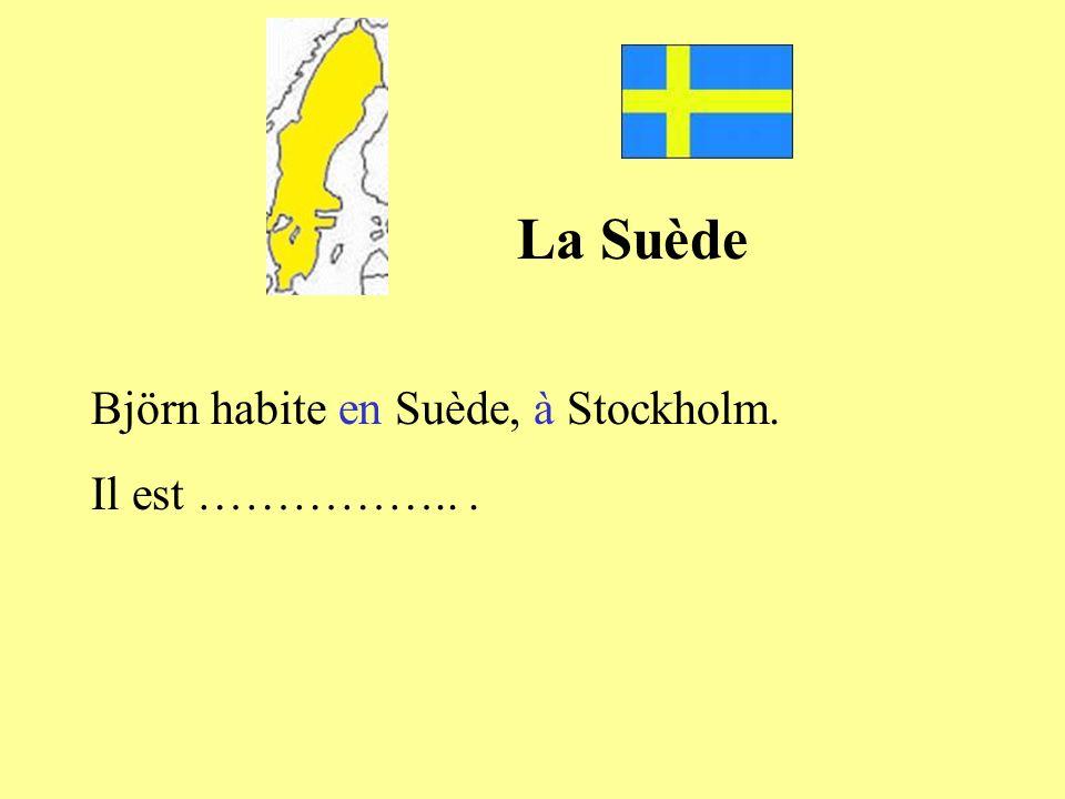 Björn habite en Suède, à Stockholm. Il est ……………...