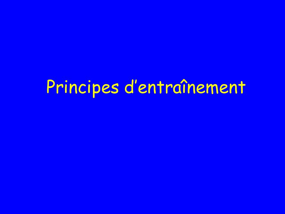 Principes dentraînement