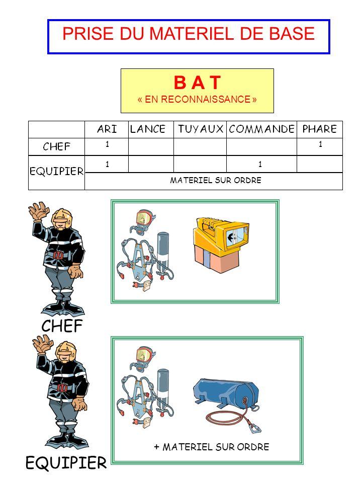 PRISE DU MATERIEL DE BASE B A T 1111 121 CHEF EQUIPIER