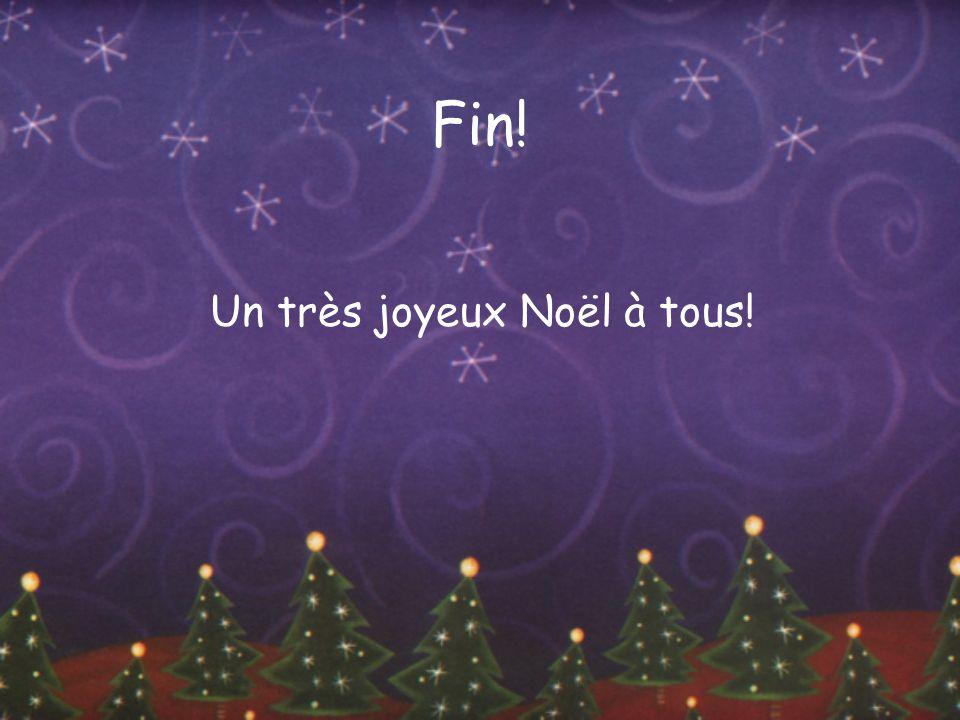 Fin! Un très joyeux Noël à tous!