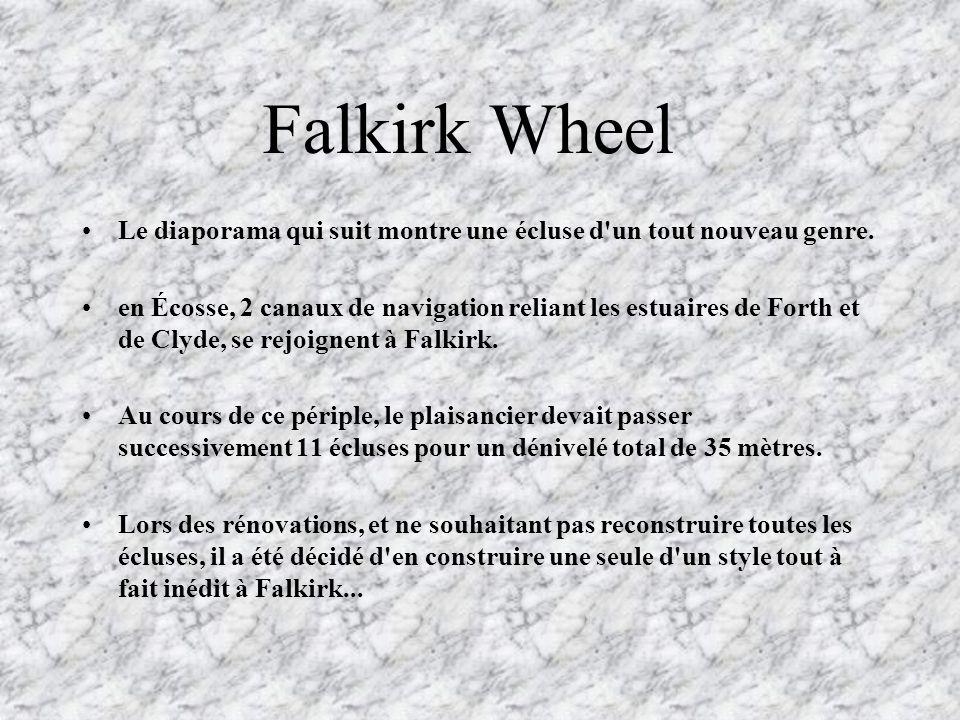 Falkirk Wheel Le diaporama qui suit montre une écluse d un tout nouveau genre.
