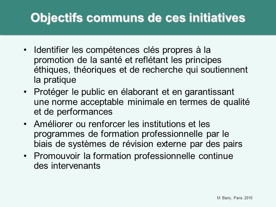 Identifier les compétences clés propres à la promotion de la santé et reflétant les principes éthiques, théoriques et de recherche qui soutiennent la