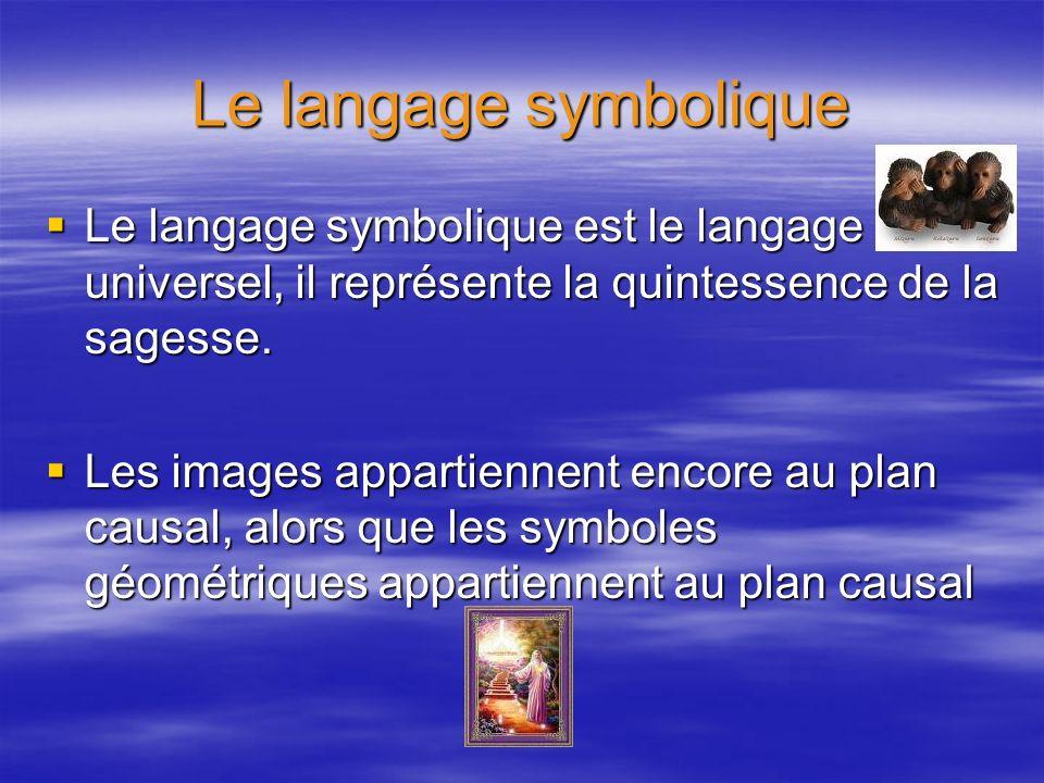 Le langage symbolique Le langage symbolique est le langage universel, il représente la quintessence de la sagesse. Le langage symbolique est le langag