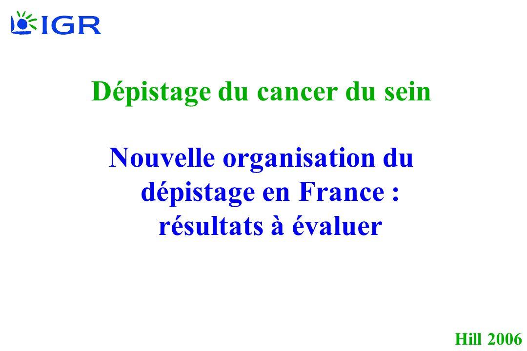 Hill 2006 Dépistage du cancer du sein Nouvelle organisation du dépistage en France : résultats à évaluer