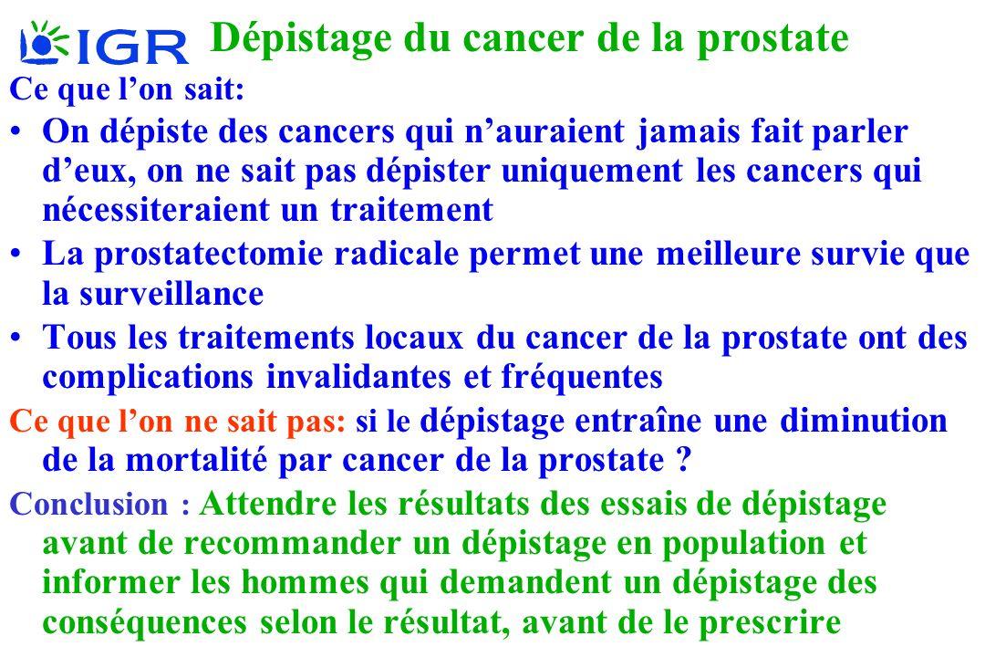 Hill 2006 Ce que lon sait: On dépiste des cancers qui nauraient jamais fait parler deux, on ne sait pas dépister uniquement les cancers qui nécessiter