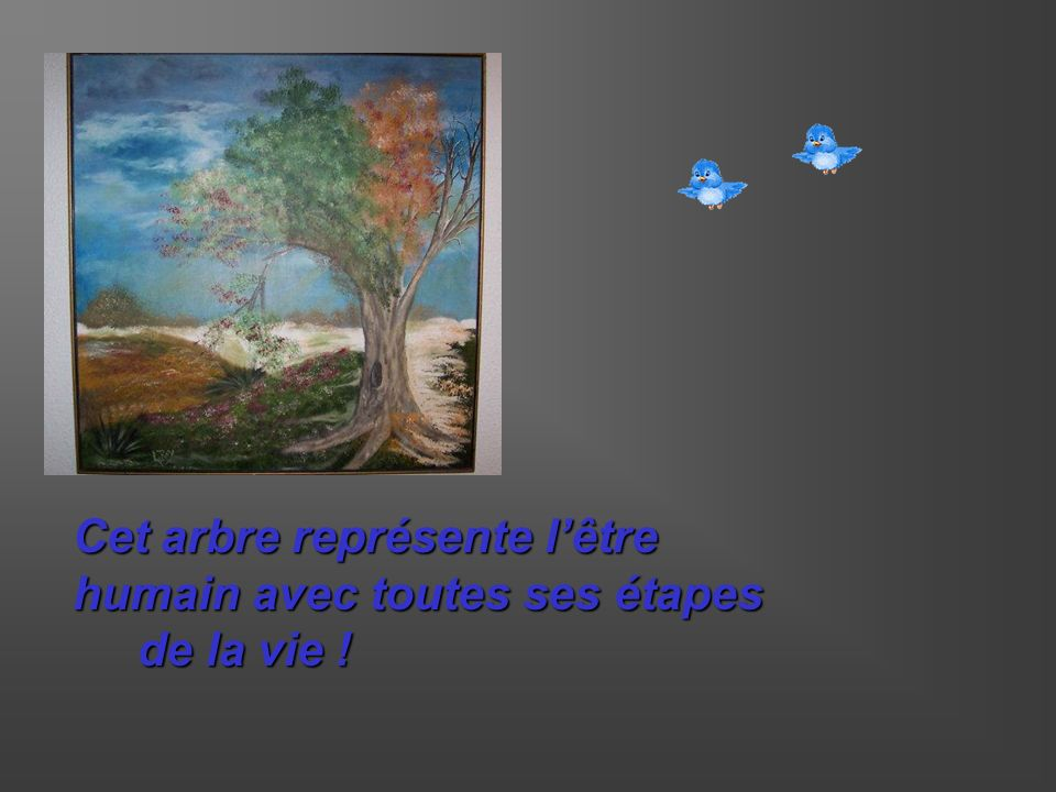 Cet arbre représente lêtre humain avec toutes ses étapes de la vie ! de la vie !