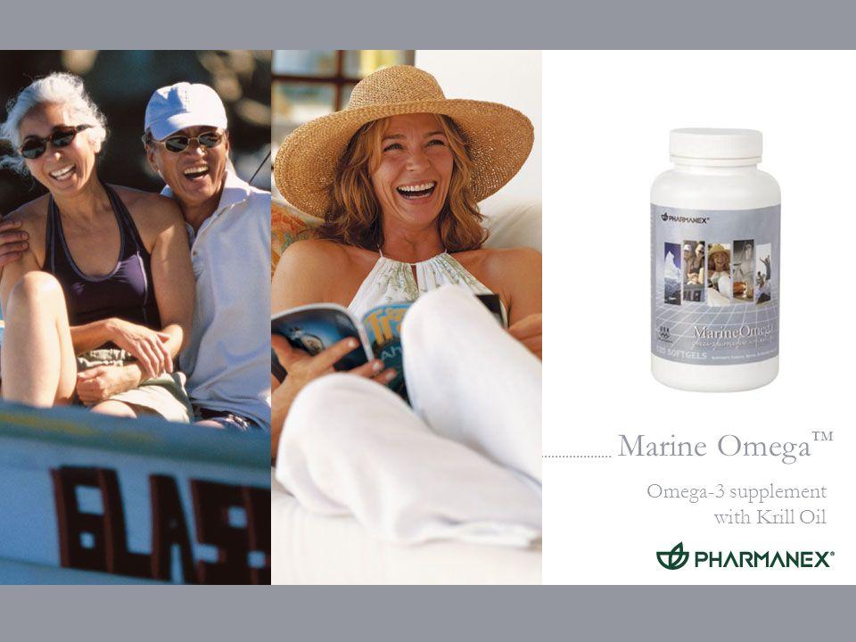 Marine Omega Omega-3 supplement with Krill Oil Huile de krill (Euphasia pacifica) Ingrédients exclusifs: Haute teneur en phospholipides (40%) Riche en EPA et DHA Renferme un flavonoïde et des antioxydants caroténoïdes (astaxanthine) (< 1% pêché)