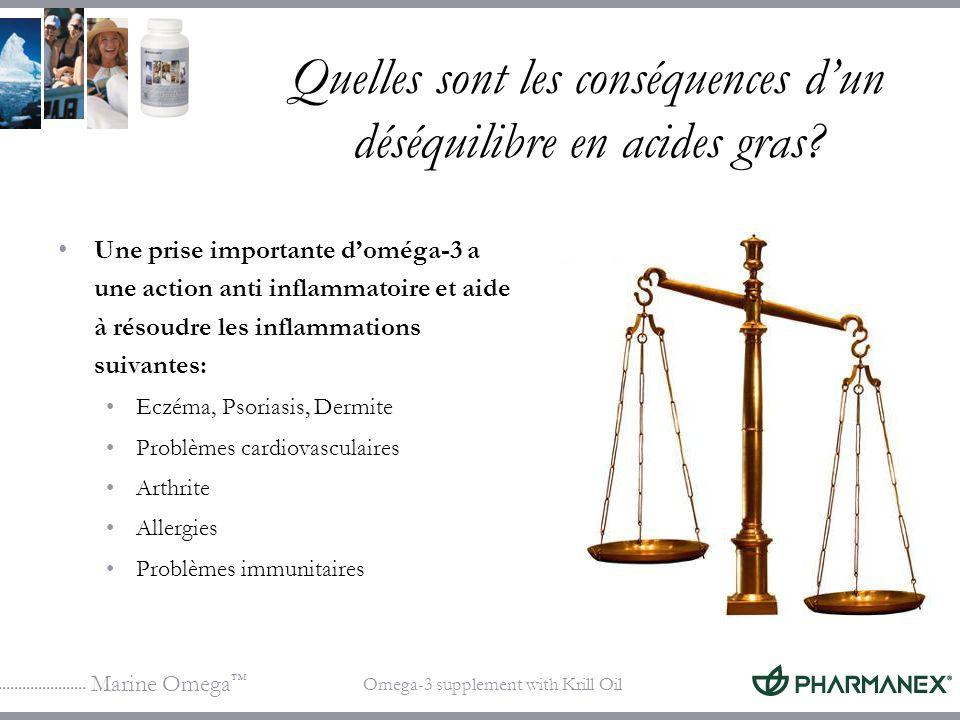 Marine Omega Omega-3 supplement with Krill Oil Quelles sont les conséquences dun déséquilibre en acides gras? Une prise importante doméga-3 a une acti