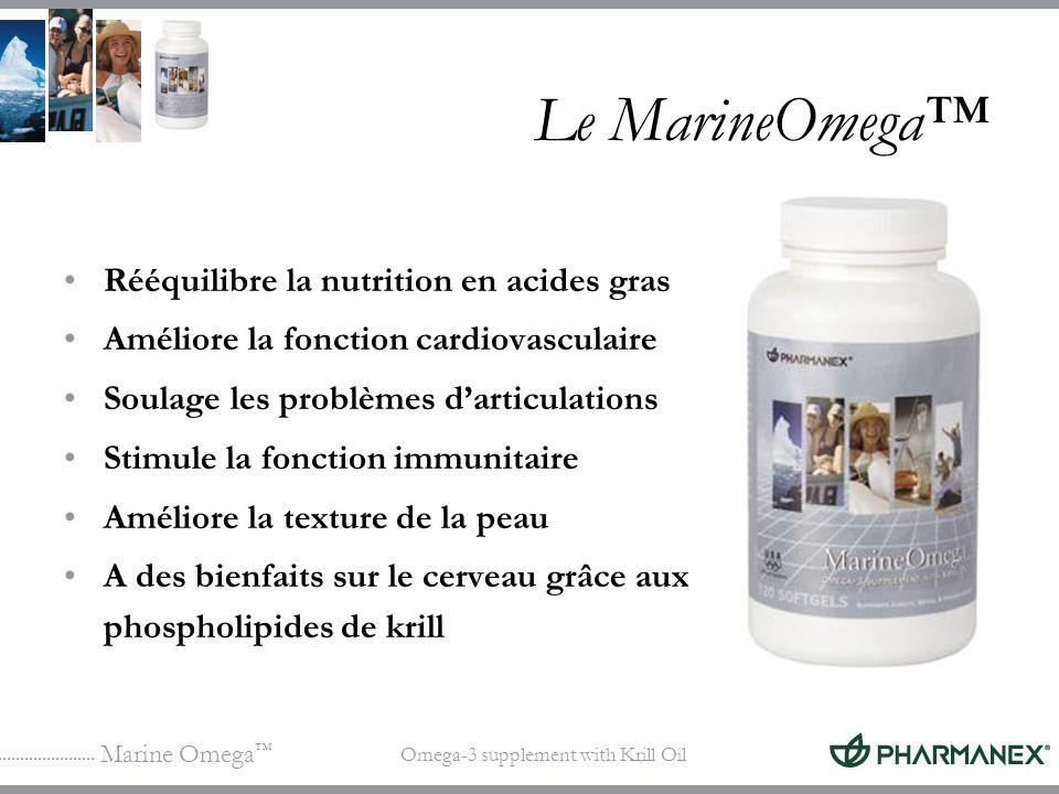 Marine Omega Omega-3 supplement with Krill Oil Le MarineOmega Rééquilibre la nutrition en acides gras Améliore la fonction cardiovasculaire Soulage le