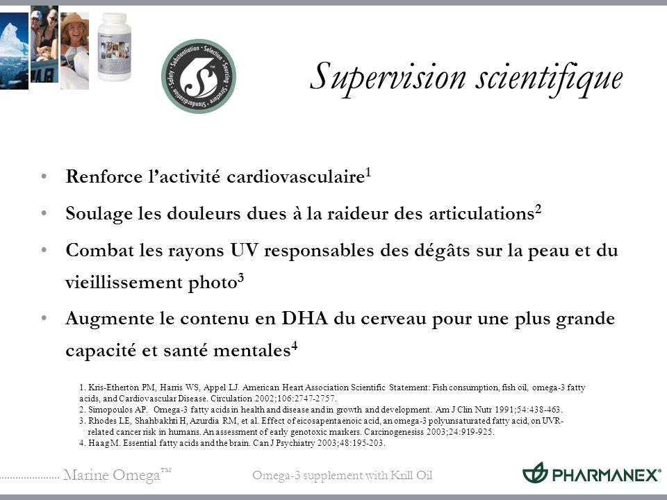 Marine Omega Omega-3 supplement with Krill Oil Supervision scientifique Renforce lactivité cardiovasculaire 1 Soulage les douleurs dues à la raideur d