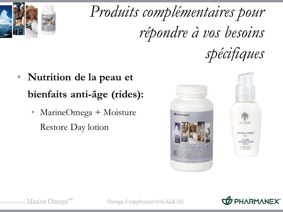 Marine Omega Omega-3 supplement with Krill Oil Produits complémentaires pour répondre à vos besoins spécifiques Nutrition de la peau et bienfaits anti