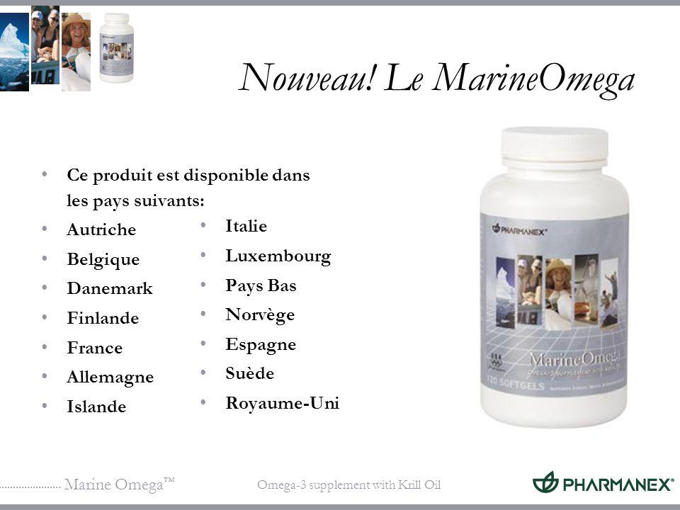 Marine Omega Omega-3 supplement with Krill Oil Nouveau! Le MarineOmega Ce produit est disponible dans les pays suivants: Autriche Belgique Danemark Fi