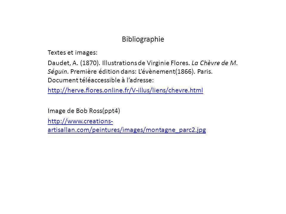 Bibliographie Textes et images: Daudet, A.(1870).