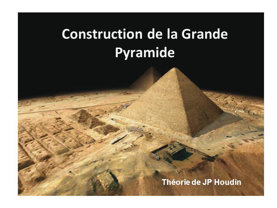 Construction de la Grande Pyramide Théorie de JP Houdin