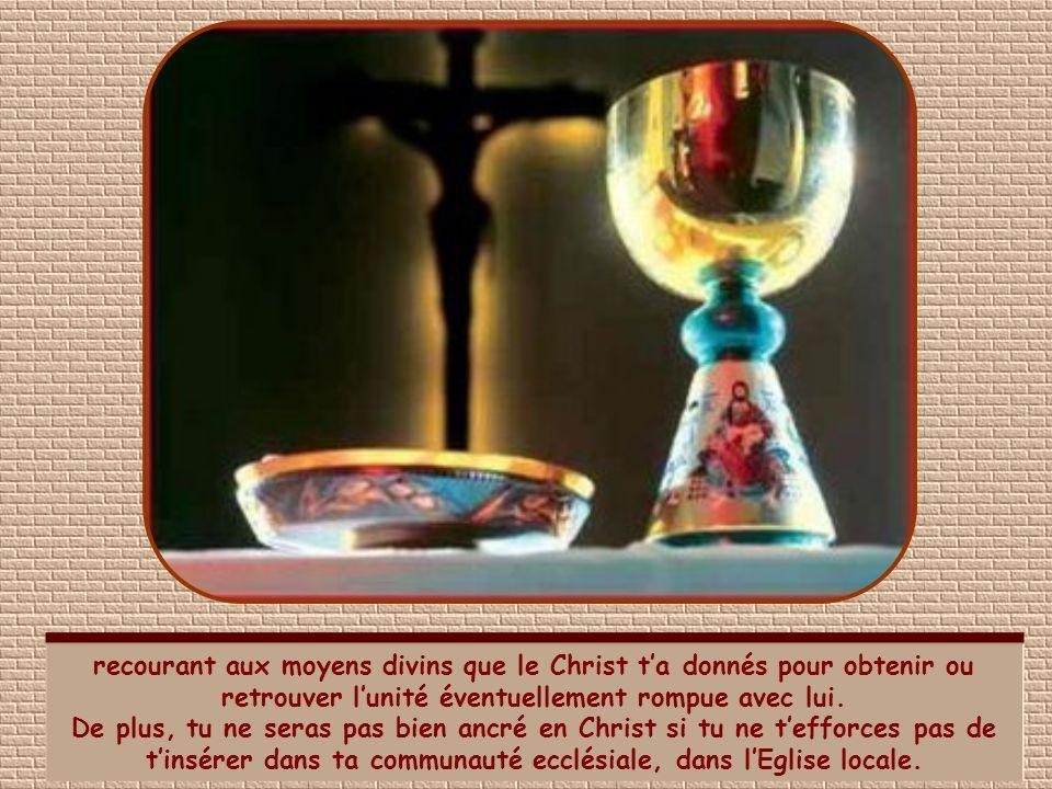 Il te faut dabord croire au Christ, mais ce nest pas suffisant. Ta foi doit avoir une influence concrète sur ta vie. Il te faut donc vivre conformémen