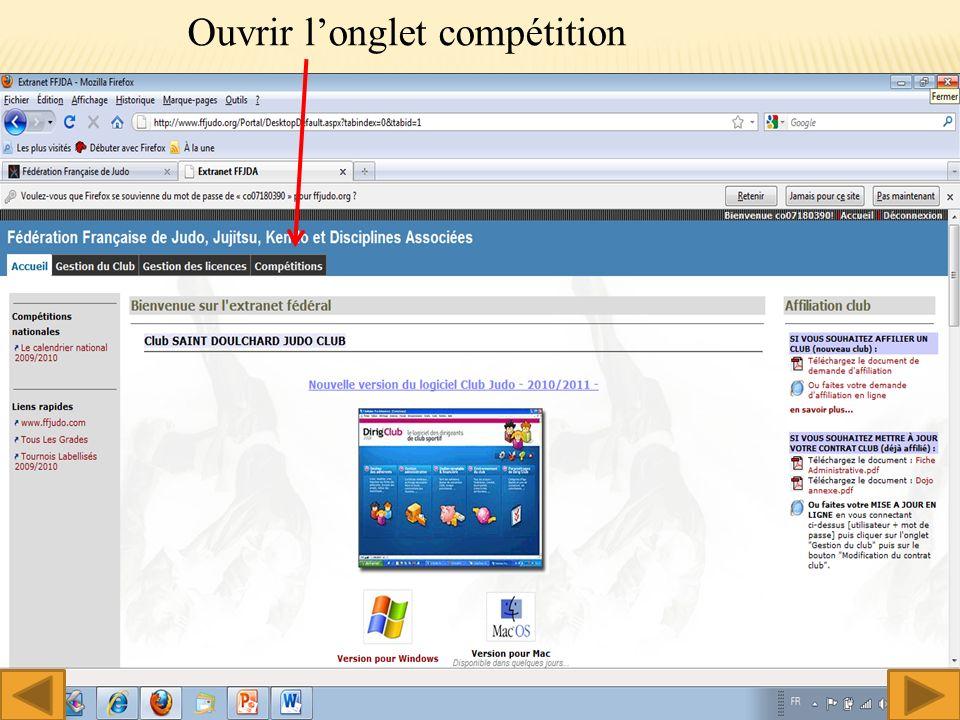 Ouvrir longlet compétition 4