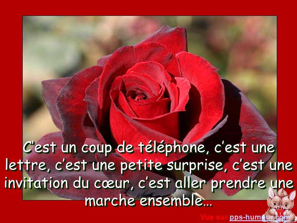 Cest un coup de téléphone, cest une lettre, cest une petite surprise, cest une invitation du cœur, cest aller prendre une marche ensemble… Vue sur pps-humour.compps-humour.com