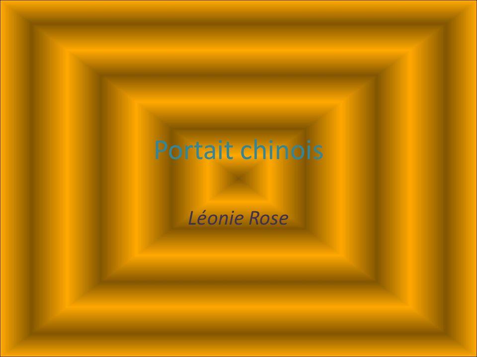 Portait chinois Léonie Rose