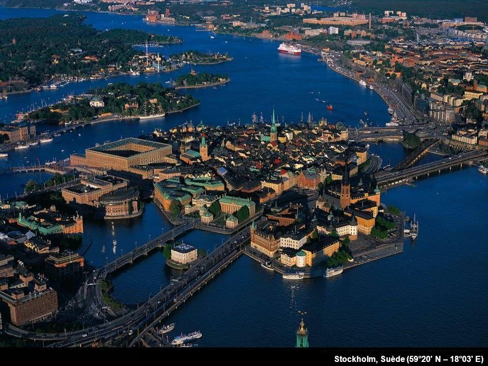 Stockholm, Suède (59°20 N – 18°03 E)