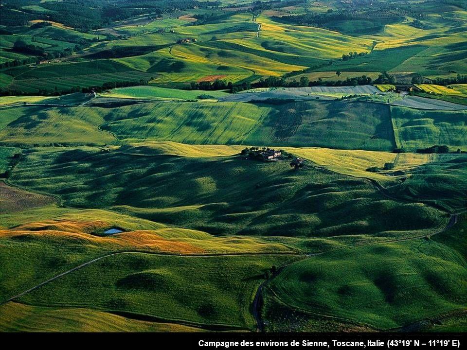 Campagne des environs de Sienne, Toscane, Italie (43°19 N – 11°19 E)