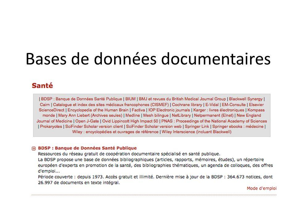 Bases de données documentaires