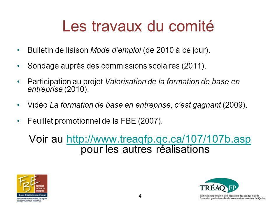 Les travaux du comité Bulletin de liaison Mode demploi (de 2010 à ce jour).
