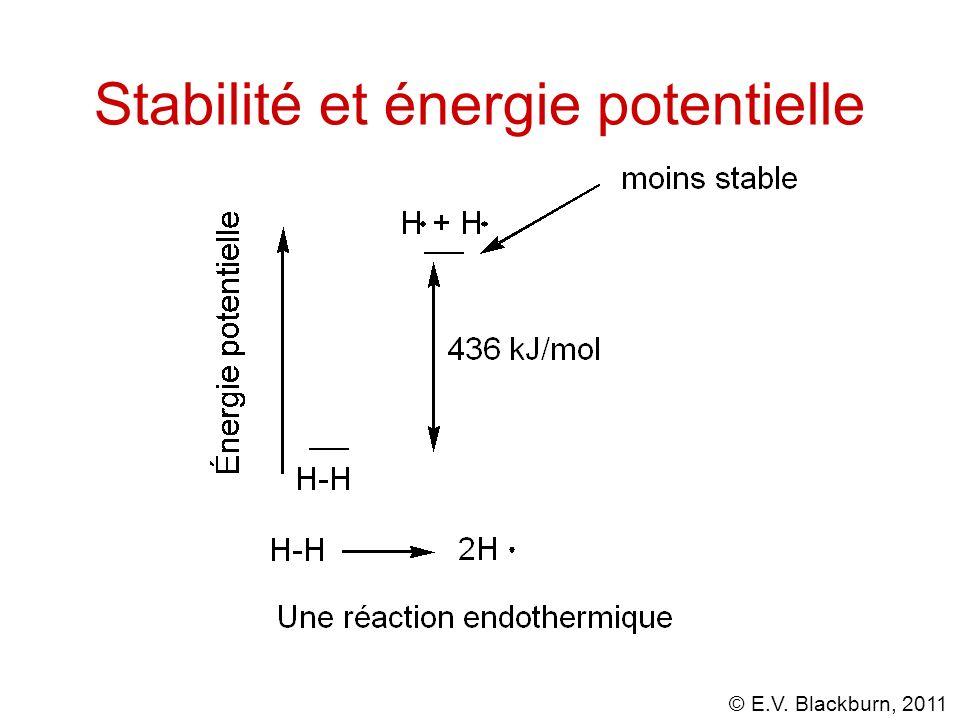 © E.V. Blackburn, 2011 Stabilité et énergie potentielle