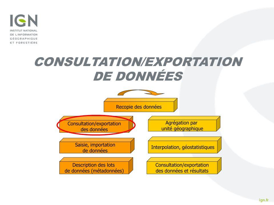 ign.fr IFN 2010 CONSULTATION/EXPORTATION DE DONNÉES