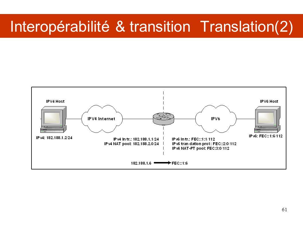 Interopérabilité & transition Translation(2) 61