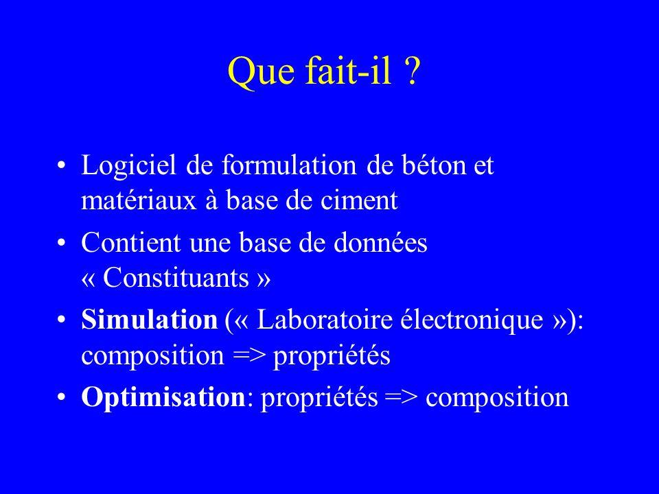 Doù vient-il .Prédécesseurs: –Bétonlab (F. de Larrard, D.