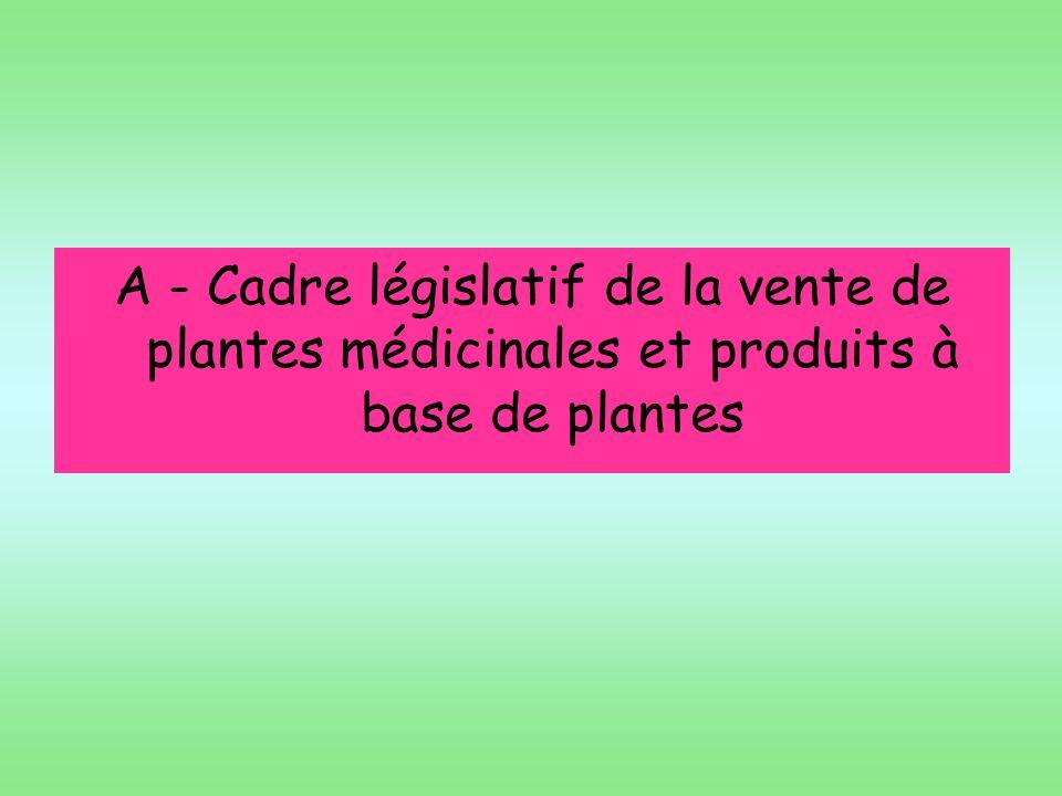 Légalement, les TM de plantes décrites au cahier de lagence devraient faire lobjet dune AMM allégée, Toutes les autres TM (autres plantes des listes A et B) devraient faire lobjet dune demande dAMM complète Le prescripteur et le consommateur ne connaissent pas ces aspects législatifs et peuvent penser que si ces produits sont disponibles, ils ont subi tous les contrôles dun médicament classique… TM commercialisées en tant que produit de phytothérapie