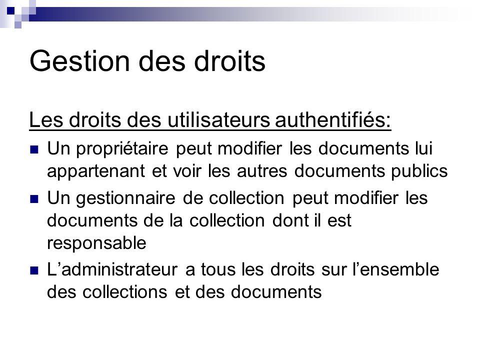 Front office Présentation des informations Accessible au public Doc FrontOffice HTML Serveur HTTP