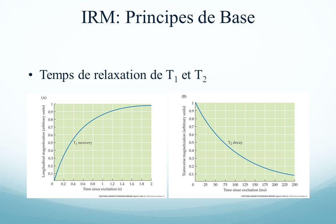 Temps de relaxation de T 1 et T 2 IRM: Principes de Base