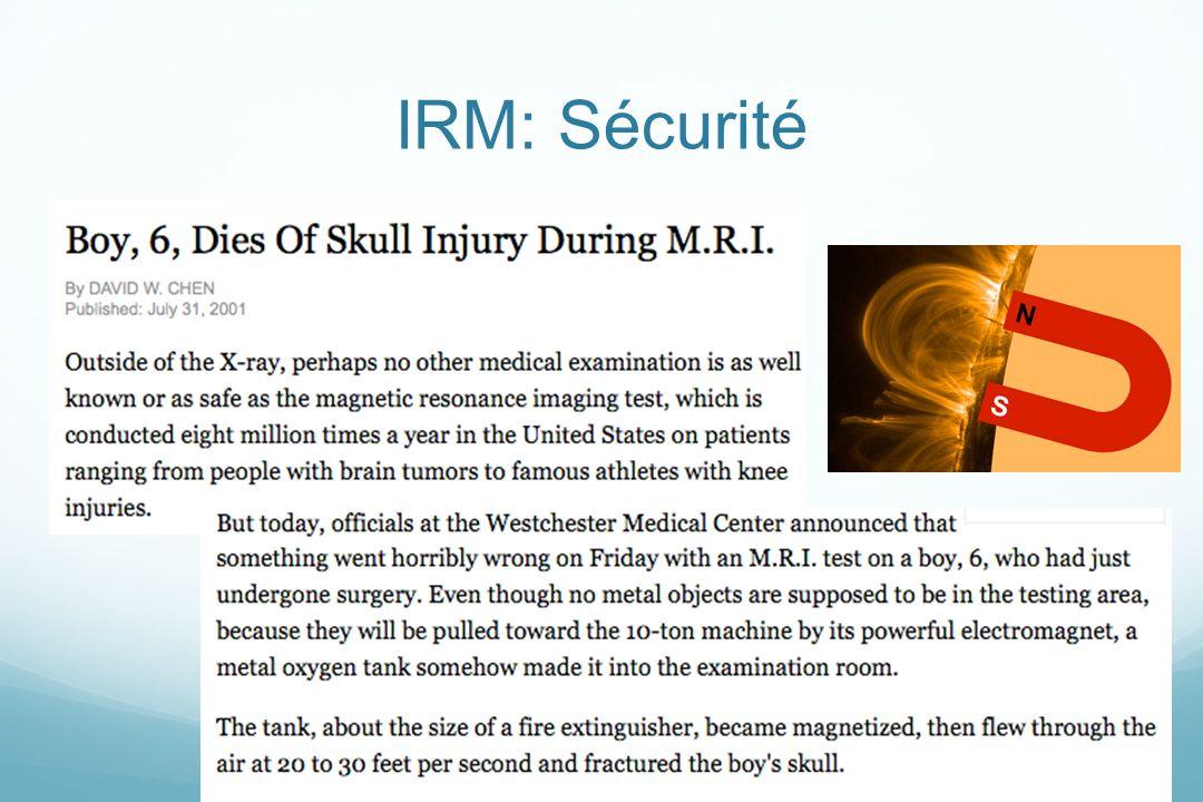 IRM: Sécurité