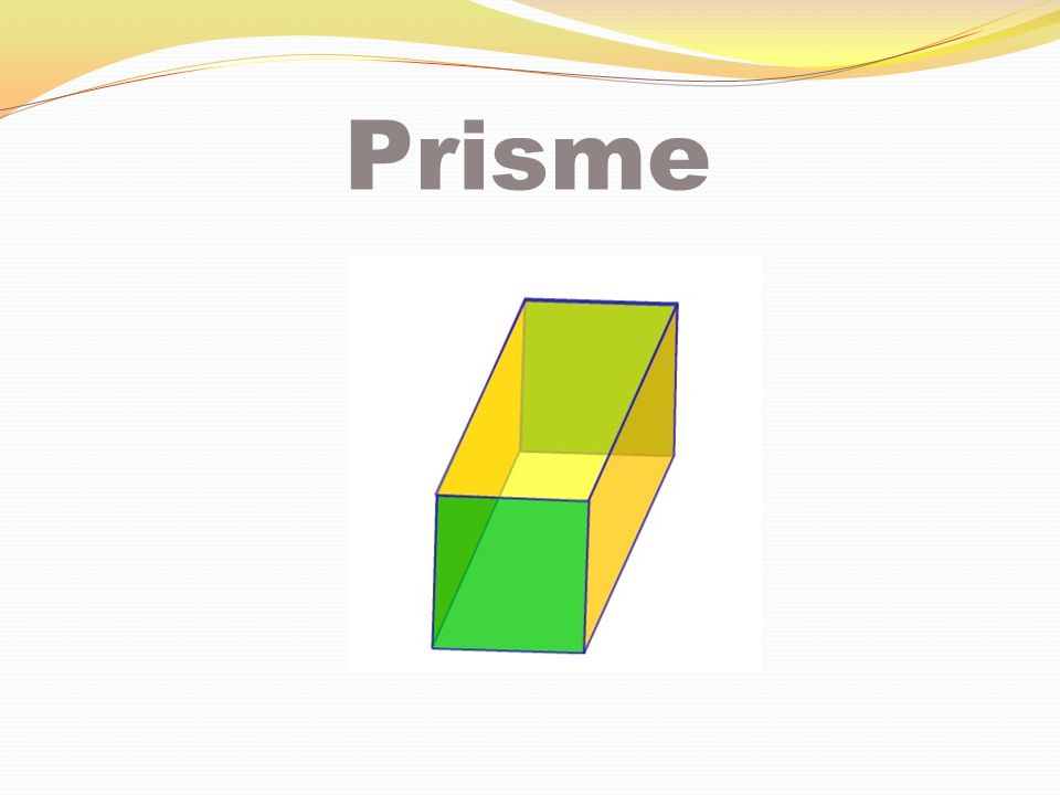 Prisme à base rectangulaire